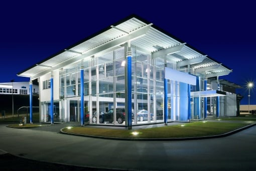 Electrical Contractors in Plymouth - Car Showroom