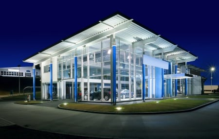 Electrical Contractors & Electricians in Plymouth - Car Showroom