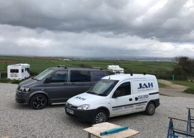 Tourism Gallery - JAH working at Whitsand Bay Fort - Amazing Views